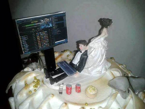 Gâteau de mariage League of Legends