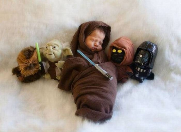 Un papa fan de Star Wars