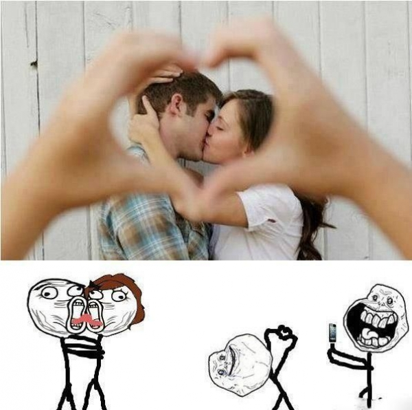 Photo romantique version trollfaces
