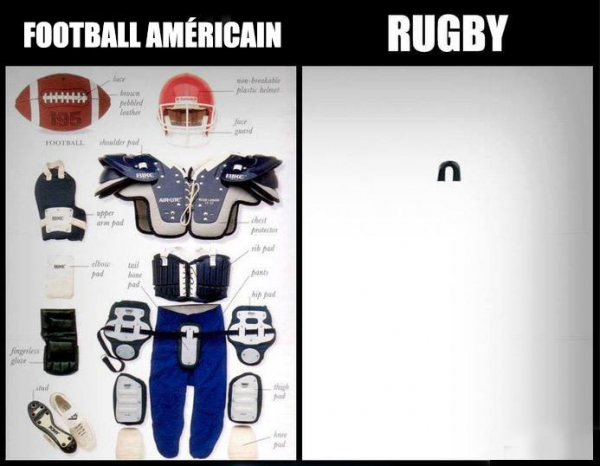 Football américain VS rugby
