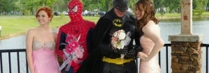 Spiderman et batman se marient